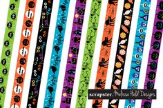 Halloween Border Patterns by scrapster on Creative Market