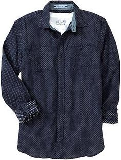 Men's Slim-Fit Cargo Shirts | Old Navy