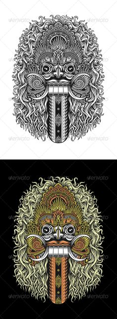 Balinese Demon Mask — JPG Image #dancing #decorative • Available here → https://graphicriver.net/item/balinese-demon-mask/7975550?ref=pxcr
