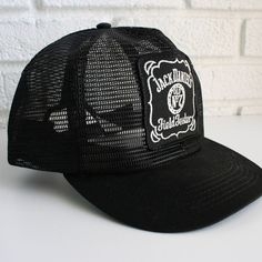 012a85f65c551 Vintage Black Jack Daniels Trucker Hat