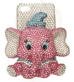 Galaxy Note 3 Case, Pink 3D elephant Phone Cases Glitter iPhone5 Case, iPhone 4S Case, iPhone5c Case, iPhone 5S Case, Galaxy S4 Case, Note 2...