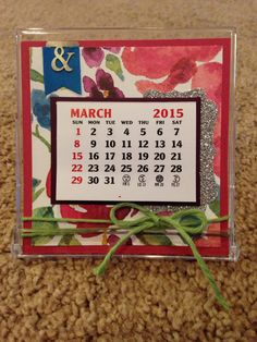 Stampin Up. Mini calendar.