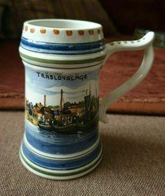 Sweden traslovslage porcelain mug handmade painting handmalat