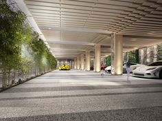 Car Park Design, Parking Design, Parking Lot, Car Parking, Garage Design, House Design, Luxury Garage, Canopy Lights, Micro House