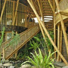 Villa Kelapa at Green Village Bamboo Architecture, Tropical Architecture, Sustainable Architecture, Sustainable Design, Architecture Design, Sustainable Living, Bamboo Building, Bamboo Structure, Bamboo Construction