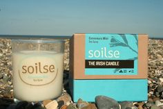 Connemara Mist, this exquisite scented soy wax candle will transport you to the wild west coast of Ireland.  soilsecandlecompany.com Soy Wax Candles, Candle Jars, West Coast Of Ireland, Sea Spray, Connemara, Wild West, Glass Of Milk, Mists, Packaging