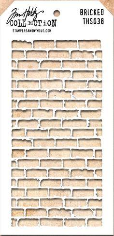 Stamper's Anonymous / Tim Holtz - Layering Stencil - Bricked