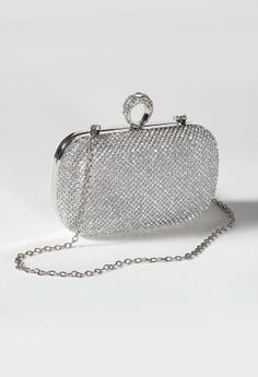 Rhinestone Finger Top Closure Handbag from Camille La Vie and Group USA prom clutch