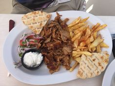 "Traveler photo by Fingateable: ""Gyros"" (Aug — at El Greco Steakhouse Restaurant. Mexican, Restaurant, Ethnic Recipes, Holidays, Food, Travel, El Greco, Twist Restaurant, Meal"