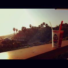Shake and a sunset...Crystal Cove