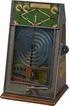 "1 Cent ""World Champion"" Miniature Flip-Ball, Baseball Skill Trade Stimulator c1931, by Peo MFG."