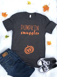 Awesome Pregnancy information are offered on our website. look at this and you wont be sorry you did. Pregnancy Announcement Shirt, Pregnancy Shirts, Halloween Pregnancy Shirt, Fall Pregnancy, Pregnancy Fashion, Pregnancy Photos, Maternity Tees, Maternity Outfits, Pregnancy Information