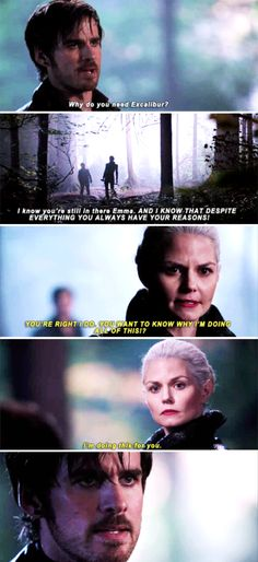 """I'm doing this for you"" - Dark Swan and Hook #OnceUponATime"