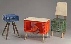 Furniture made of old crates