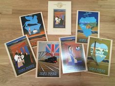 Venice Simplon Orient Express Set of Six Postcards In Presentation Wallet. Perfect for Framing. By Pierre Fix-Masseau, French Poster Artist Simplon Orient Express, Art Deco Posters, Travel Souvenirs, Jazz Age, French Artists, Venice, Postcards, Presentation, Wallet