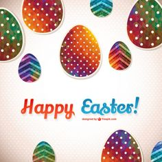 Easter eggs free graphic