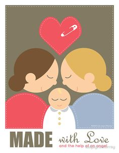 2 Girls & a Baby by lisajaynemurray A special kind of gift for a special kind of family