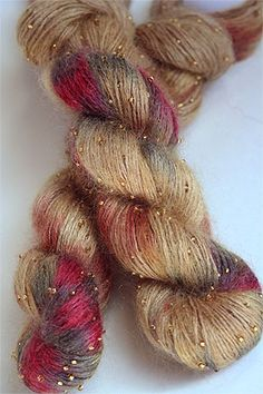 Artyarns Beaded Silk Mohair in 1018 Gold