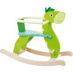 Houpadlo - Houpací dinosaurus s ohrádkou (Legler) Rocking Chair, Rocking Horses, Bois Diy, Cnc Wood, Wooden Horse, Wood Stool, Teaching Aids, Pastel, Dresses Kids Girl