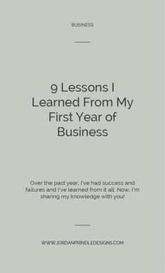 9 Lessons I Learned From My First Year of Business — Jordan Prindle Designs Business Design, Creative Business, Business Tips, Online Business, Etsy Business, Business Marketing, Business Entrepreneur, Marketing Ideas, Email Marketing