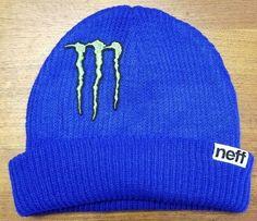 eb8dce2dd1f6c Monster Energy Beanie Athlete Blue Dew Tour Winter Rider Sponsor X Games  Neff Sb  fashion  clothing  shoes  accessories  mensaccessories  hats (ebay  link)
