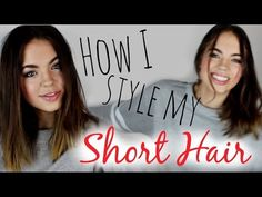 ▶ How to Style Short Hair! (3 Easy Hairstyles) - YouTube