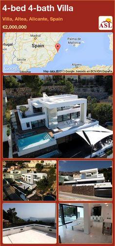 4-bed 4-bath Villa in Villa, Altea, Alicante, Spain ►€2,000,000 #PropertyForSaleInSpain