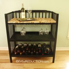 Darn Rachel I should've had you bring back that changing table for me LOL- Changing table into a bar