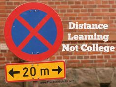 Distance Llarning, not college can be a good alternative for #homeschool students. @thehomescholar