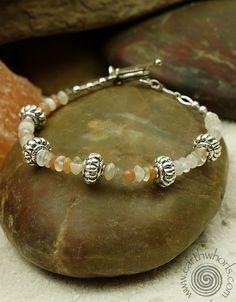 https://earthwhorls.com/collections/bracelets Moonstone & Sterling Silver bracelet by EarthWhorls.  25% all designs for Valentine's Day - code LOVELOVING