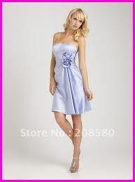 short lilac closer to blue bridesmaid dresses
