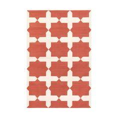 Nantucket Red & White Wes Cotton Carpet.
