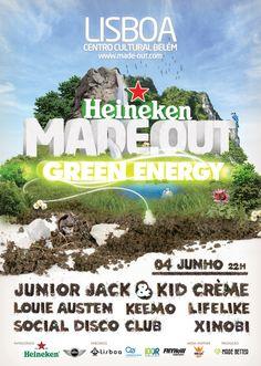 Heineken MADE OUT Green Energy by Vasco Pais, via Behance