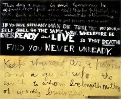 Colin McCahon, This Day a Man Is, 1970, acrylic on unstretched canvas