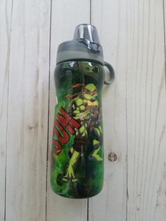 Message In A Bottle, Tumbler Cups, Glossier Stickers, Ninja Turtles, Tmnt, Tumblers, Resin, Water Bottle, Alcohol