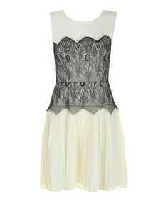 Another great find on #zulily! Cream & Black Lace Alannah Dress #zulilyfinds