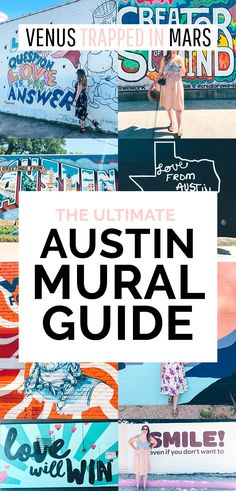 The Ultimate Austin Mural Guide. Where to find the best, most colorful murals in Austin, Texas!