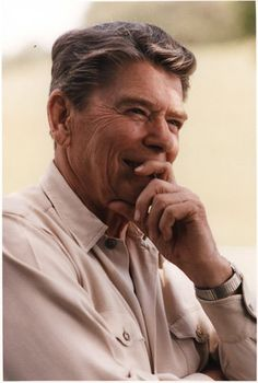 President Reagan. Love the smile! A man of character, loyalty, respect and honor. God gave us a good man, and he won't let us down. Keep your head high, and embrace his blessings. Arise and Vote your passion.