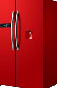 refrigerator no dispenser. russell hobbs freestanding 90cm wide red american style fridge freezer with water dispenser, rh90ff176r-wd no description (barcode ean \u003d 5060440040795). refrigerator dispenser