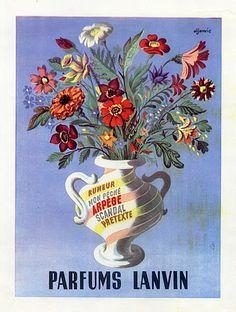 Lanvin parfums Arpège, Rumeur, Mon Péché, Scandal, Pretexte.... Aljanvic Aljanvic Laszlo FIRCSA, 1904, École franco-hongroise