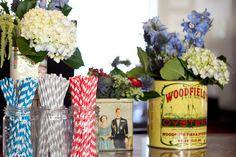 decoracion floral boda mesa vintage