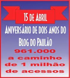 Folha do Sul - Blog do Paulão no ar desde 15/4/2012: OBRIGADO LEITORES E AMIGOS