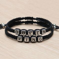 Couples Bracelet set King and Queen Handmade Lovers