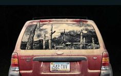 20 Dirty Car Artworks by Scott Wade
