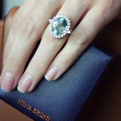 Paraiba and Diamond Ring by Nina Bruni