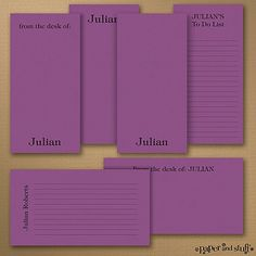 Jot+a+Line+-+Note+Pad+Gift+Set+-+50+Sheet+-+Purple