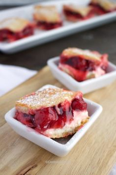 Everyone loves this simple Cherry Cream Cheese Dessert! Layers of smooth cream cheese, sweet and tart cherry pie filling and crescent rolls are topped with a delicious sugary topping. #centslessmeals #cherrycreamcheesedessert #cherrycreamcheesebars #cherrycreamcheesepie #cherrycreamcheesebake #dessert #easydessert #dessertbars Cherry Desserts, Cherry Recipes, Pear Recipes, Coffee Recipes, Cherry Cream Cheese Bake Recipe, Cream Cheese Desserts, Cream Cheese Recipes, Yummy Appetizers, Delicious Desserts