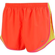 Everyone needs orange running shorts! I have had mine since freshman year so I would know! Nike Shorts Women, Nike Running Shorts, Sport Shorts, Gym Shorts Womens, Comfy Shorts, Cute Shorts, Stylish Outfits, Cute Outfits, Workout Attire