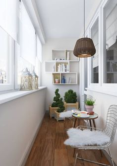 Closed balconies to gain space. - Decor Scan : The new way of thinking about your home and interior design Decor, Balcony Decor, Large Furniture, Balcony Furniture, Home Decor, House Interior, Apartment Decor, Home Deco, Interior Balcony