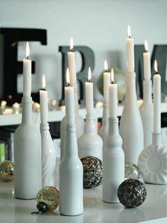Kynttilät vanhoihin viinipulloihin | Kotivinkki